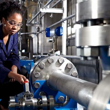 Female engineer working in a Research Laboratory